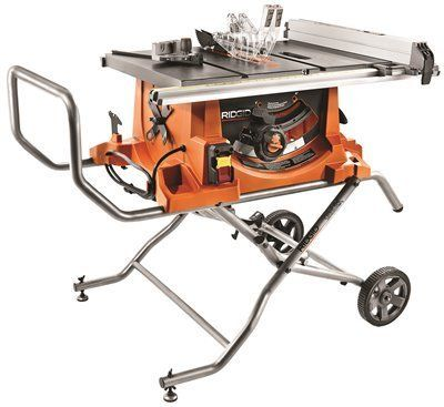 Ridgid R4513 15 Amp 10 In Heavy Duty Portable Table Saw With Stand Portable Table Saw Best Table Saw Used Woodworking Tools