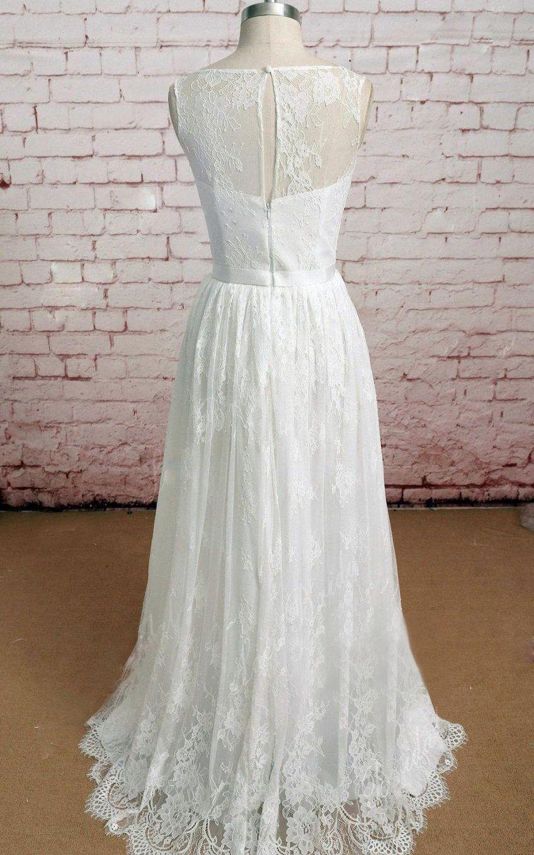 sleeveless keyhole back lace wedding dress free shipping we