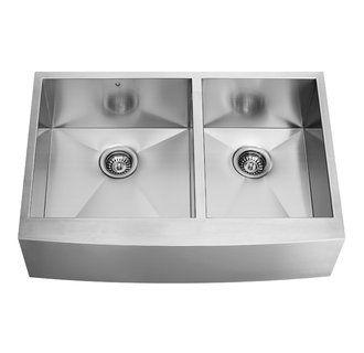 """Vigo 36"""" double bowl stainless. $544"""