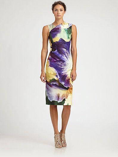 Oscar de la Renta - Iris Dress - Saks.com    Loving both the fabric and the simple design of this dress!!!