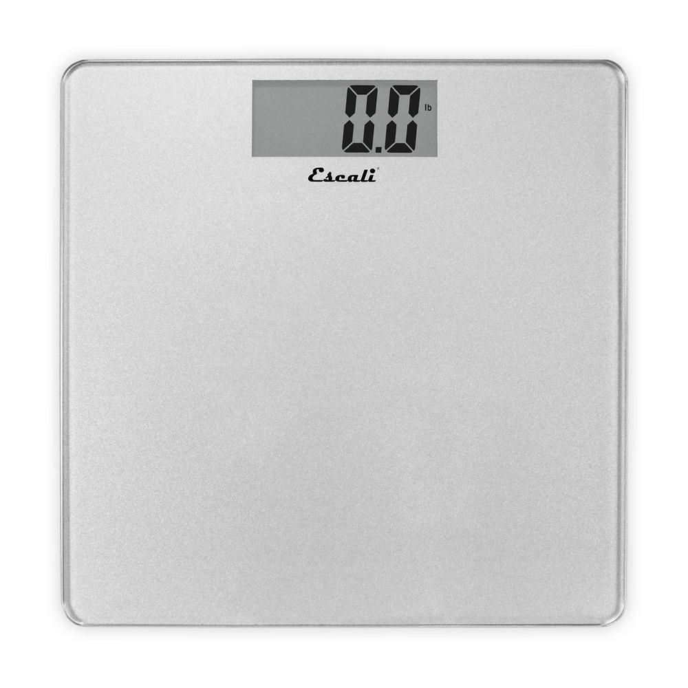 Escali Digital Platform Bathroom Scale In Silver B200s Body Scale Bath Scale Scale