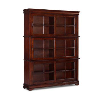 Sliding Barrister 83 High Wood Bookcase Ikea Bookcase With