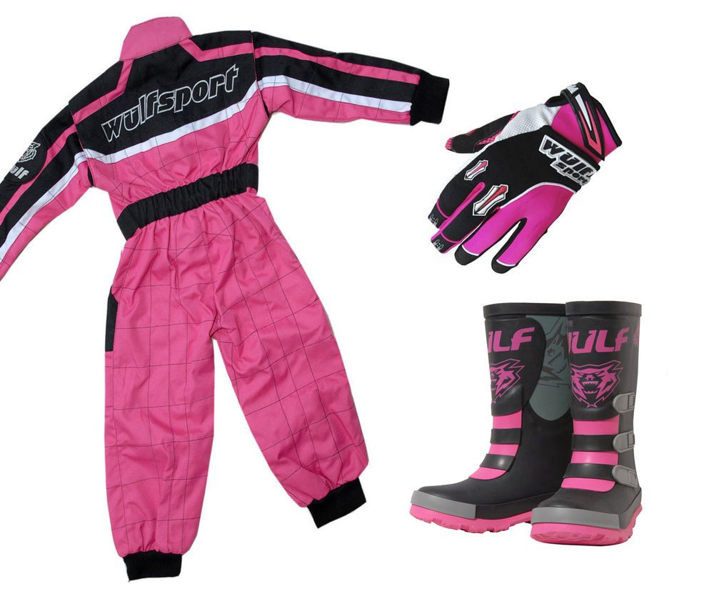 WULFSPORT KIDS INFANT WELLIES WELLY BOOTS MOTOCROSS MX QUAD PINK WULF