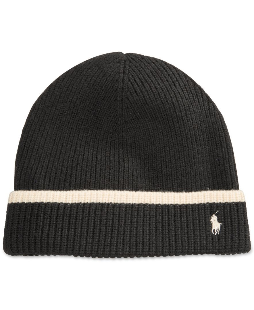 Winterize your cold-weather attire with Polo Ralph Lauren s tipped merino  knit hat.  7289aae4a