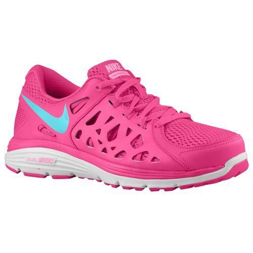 Nike Dual Fusion Run 2 - Women's Vivid Pink/Pink Glow/White/Polarized Blue