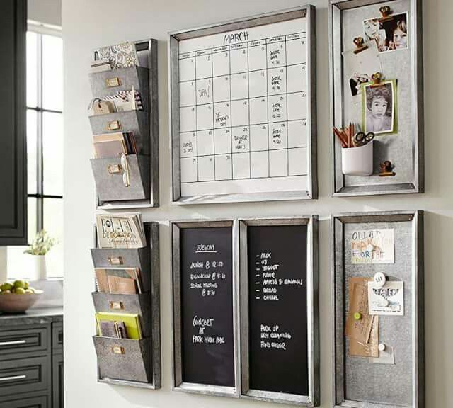 Pottery Barn Inspiration I Love This Message Center In