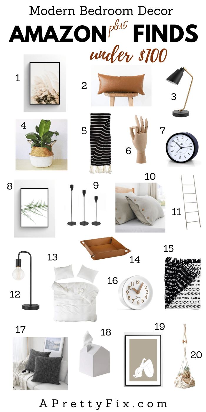 Want to freshen up your bedroom with a cozy, modern look? Look no further than these stunning affordable online decor finds mainly from Amazon and under $100. #bedroomdecor #bedroomaccessories #homedecor #amazon #onlineshopping #homedecoraccessories