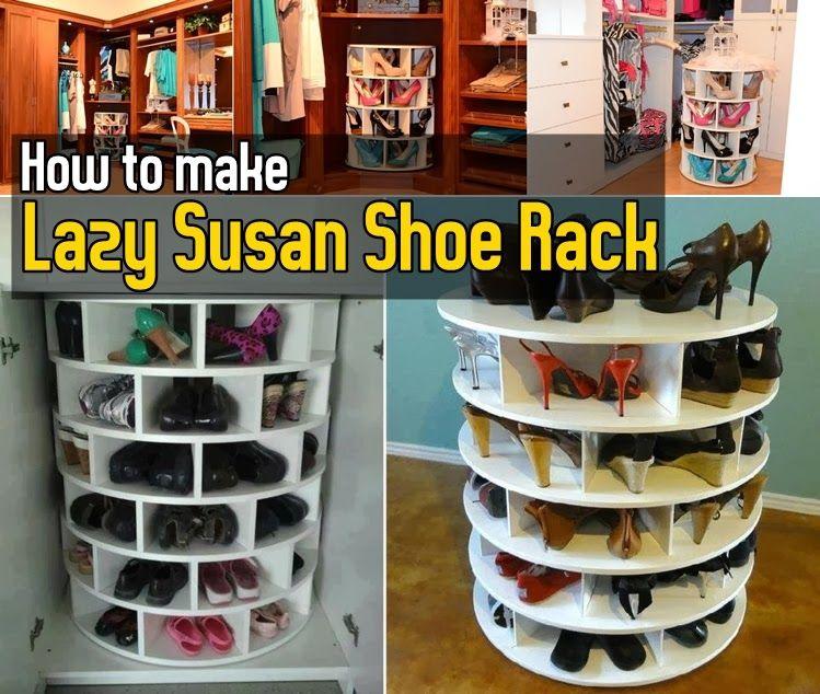 diy how to make lazy susan shoe rack
