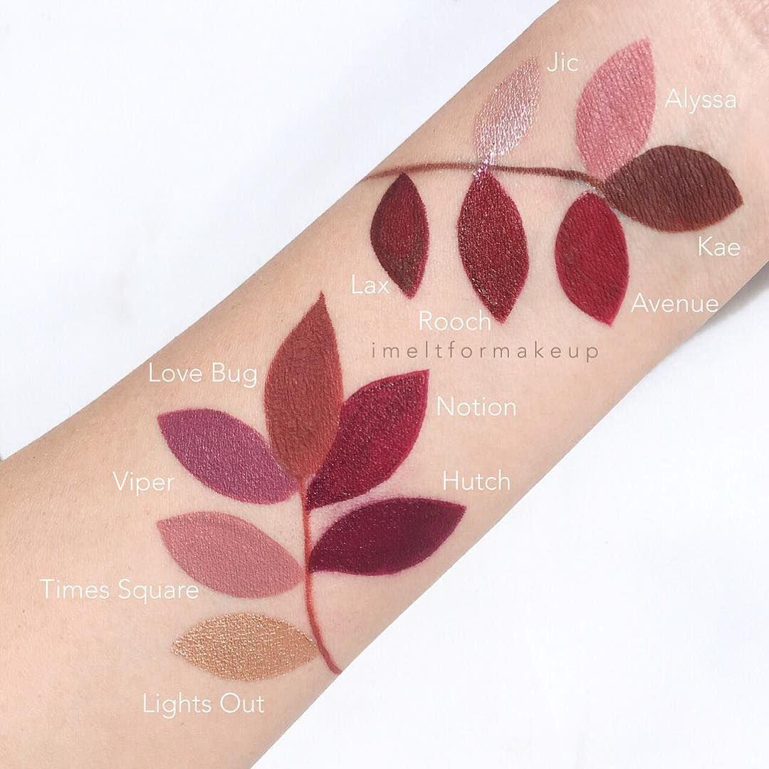 Pin by Bailee Collins on Cutee in 2019 Lipstick swatches