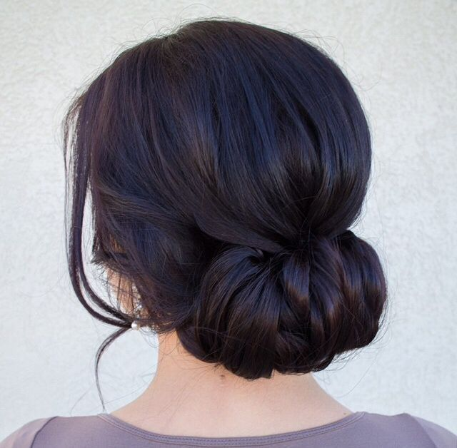 2017 Romantic Low Bun Wedding Hairstyles Hair Styles Wedding Hair And Makeup Elegant Wedding Hair