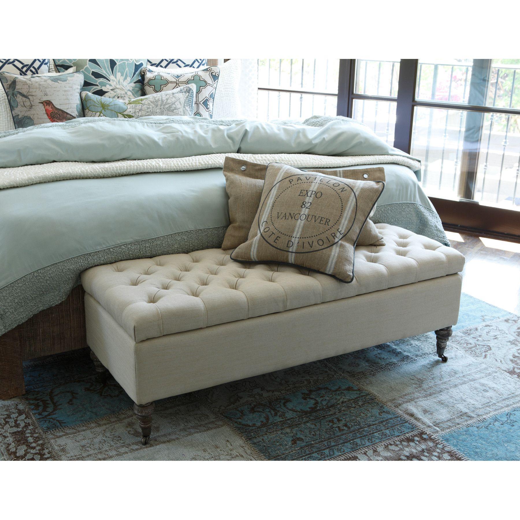Kosas Home Serena Tufted Storage Bench Storage Bench Bedroom