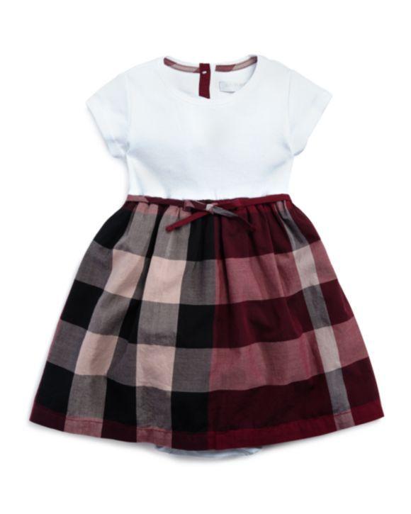 2793908c6 Burberry Girls' Check Print T-Shirt Dress - Sizes 6-36 Months   baby ...
