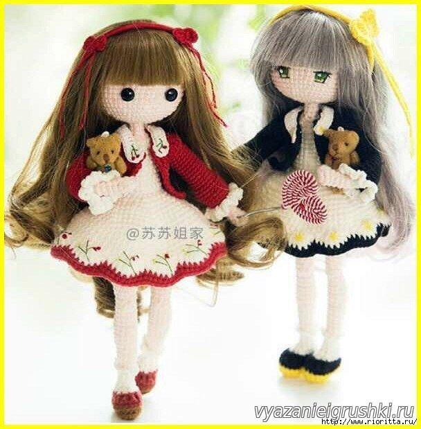muñeca de punto Mora (descripción del tejido) - Juguetes crochet ...