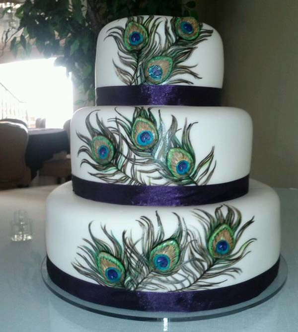 Peacock Feather Wedding Cake: Pin On Taijuana Niece's Wedding Ideas
