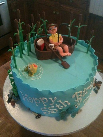 Fishing Cake For Father In Laws Birthday Fishing Theme