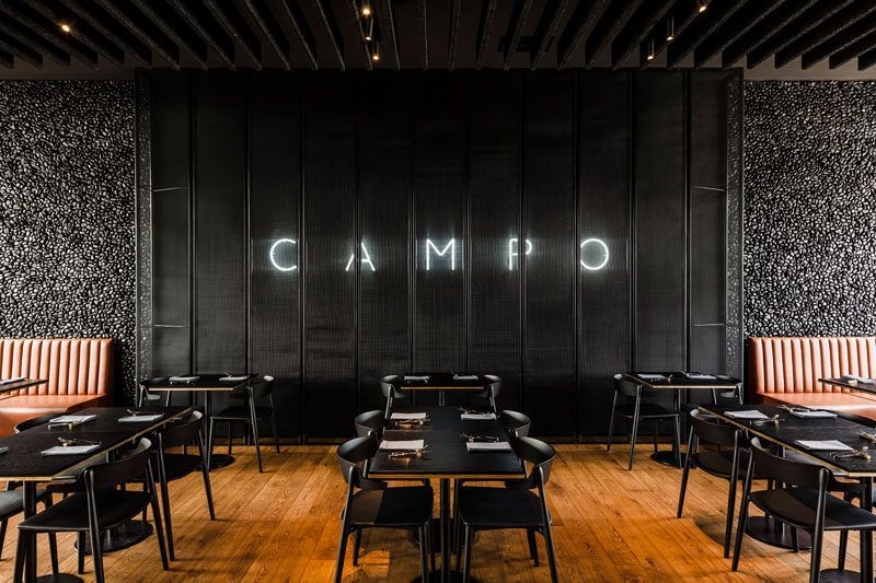 This Modern Restaurant Features An Open Plan Dining Room