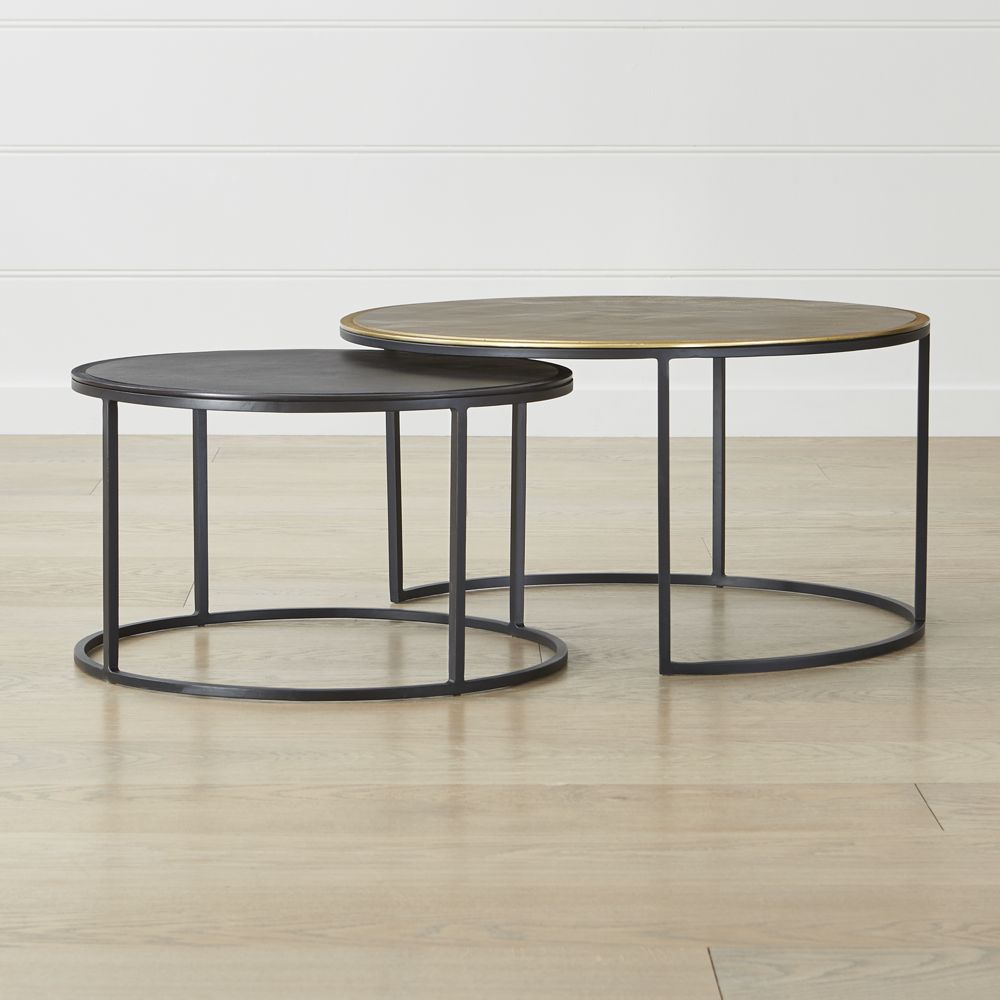 Knurl nesting coffee tables set of two