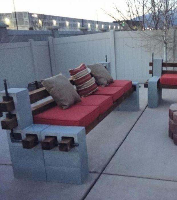 Foto  Zum Bau einer Sitzecke im Garten houses Pinterest - gemauerte sitzbank im garten