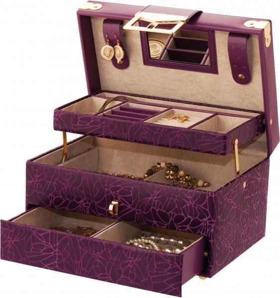 purple jewels | Beautiful New Purple Large Jewellery Box Patricia by Mele & Co image