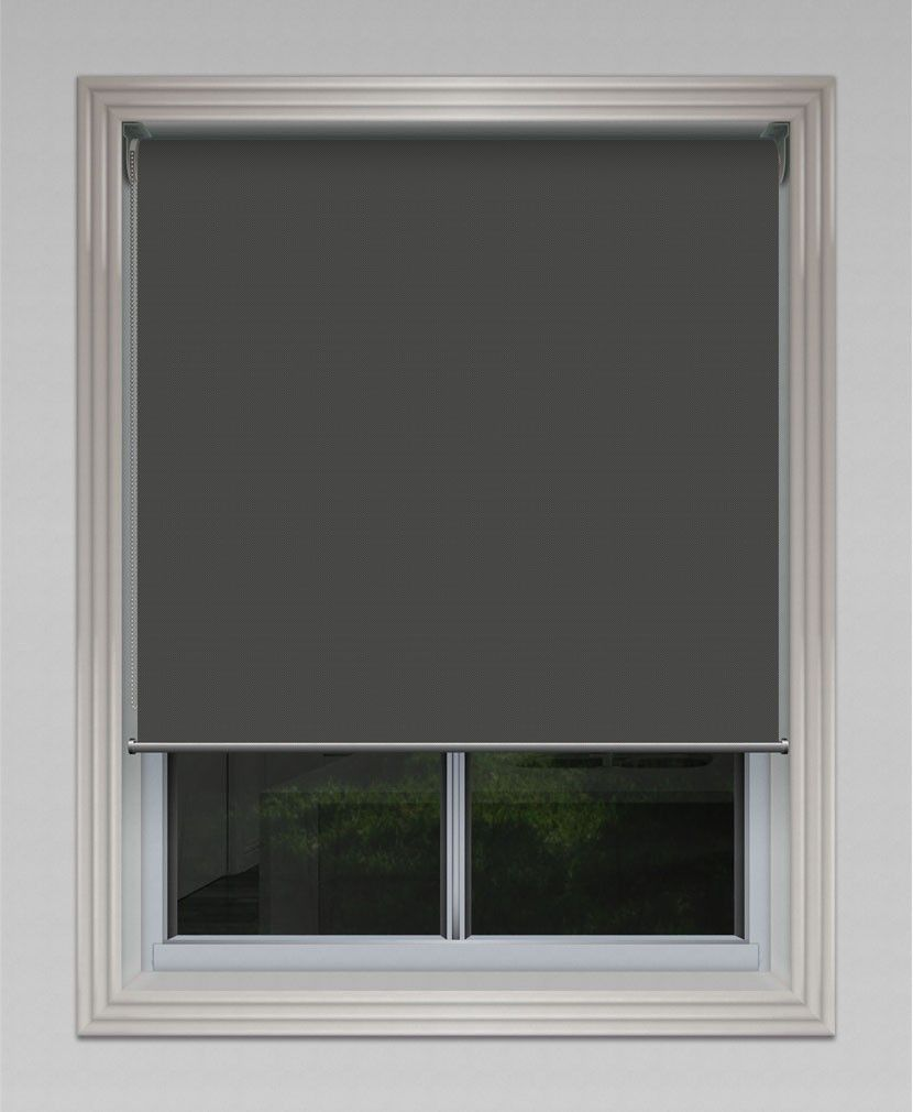 Sheerweave sunscreen roller blind charcoal grey roller blinds
