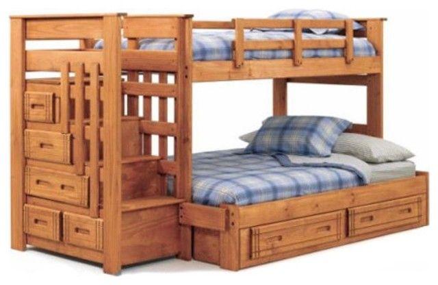 Nebraska Furniture Mart Woodcrest Twin Over Full Bunk Bed