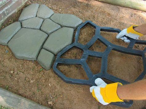 Garden Paving Plastic Mold For Concrete Molds Path DIY Stone Pathmate Shovel Gardenpaths