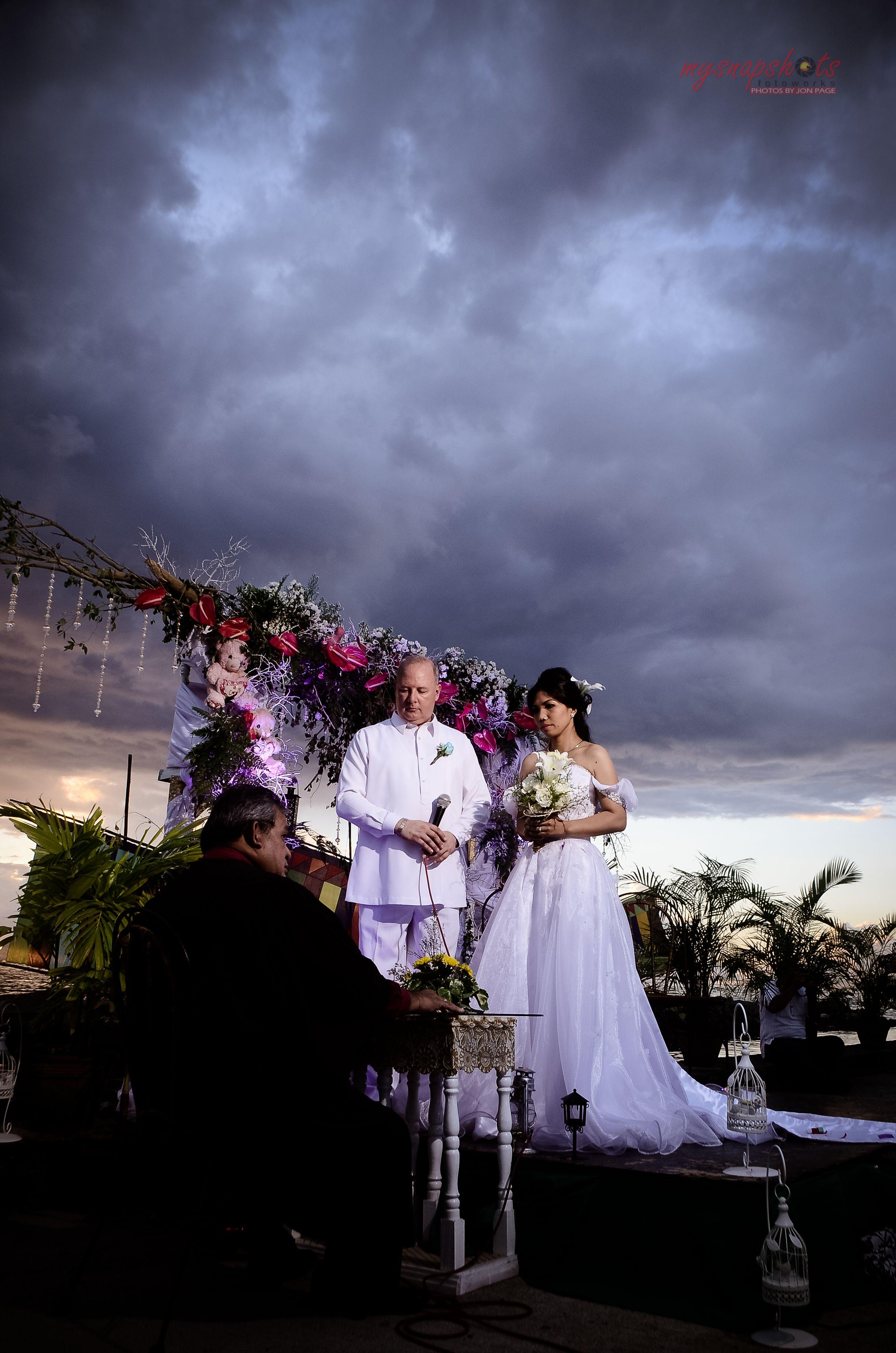 The bride and groom  A beach wedding at La Vista Del Mar