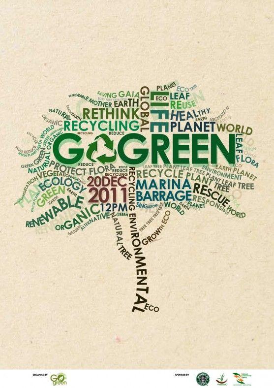 contoh poster adiwiyata go green lingkungan hidup hijau go