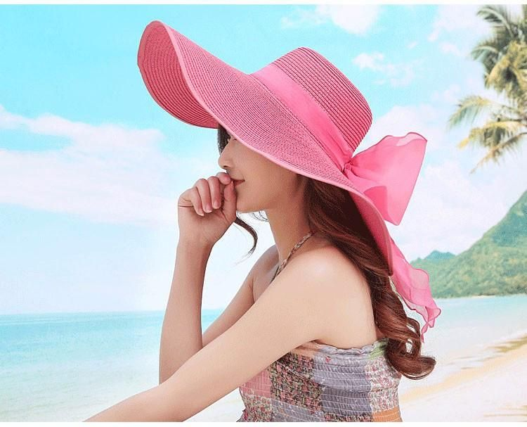 d66a1f13f2e01d Female Summer Beach Straw Hat in 2019 | Hat | Sun hats for women ...