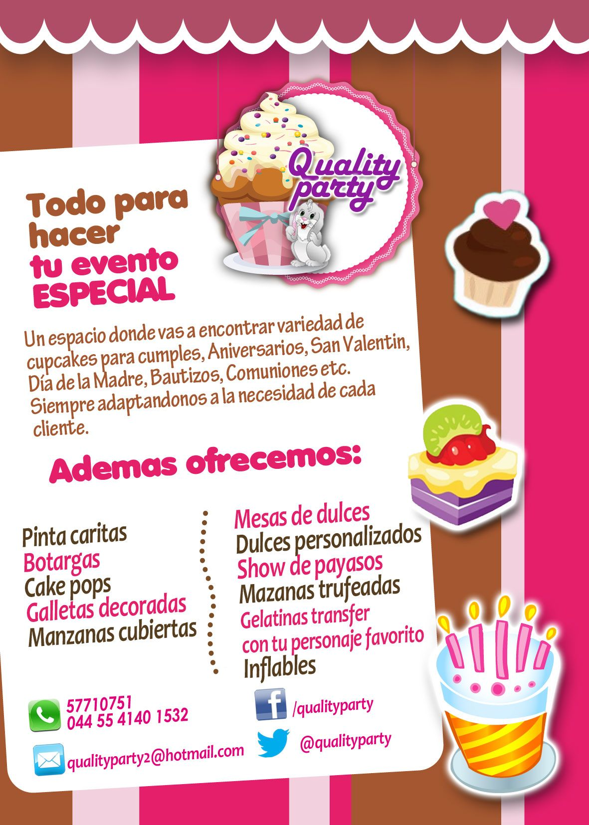 Dise O De Volantes Qualityparty Ideas Dulces