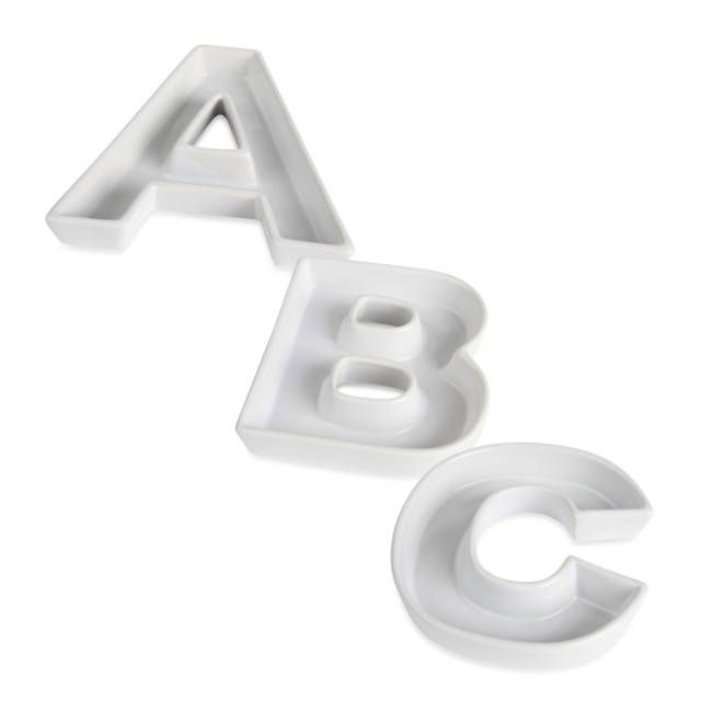 ivy lane design ceramic letter c candy dish