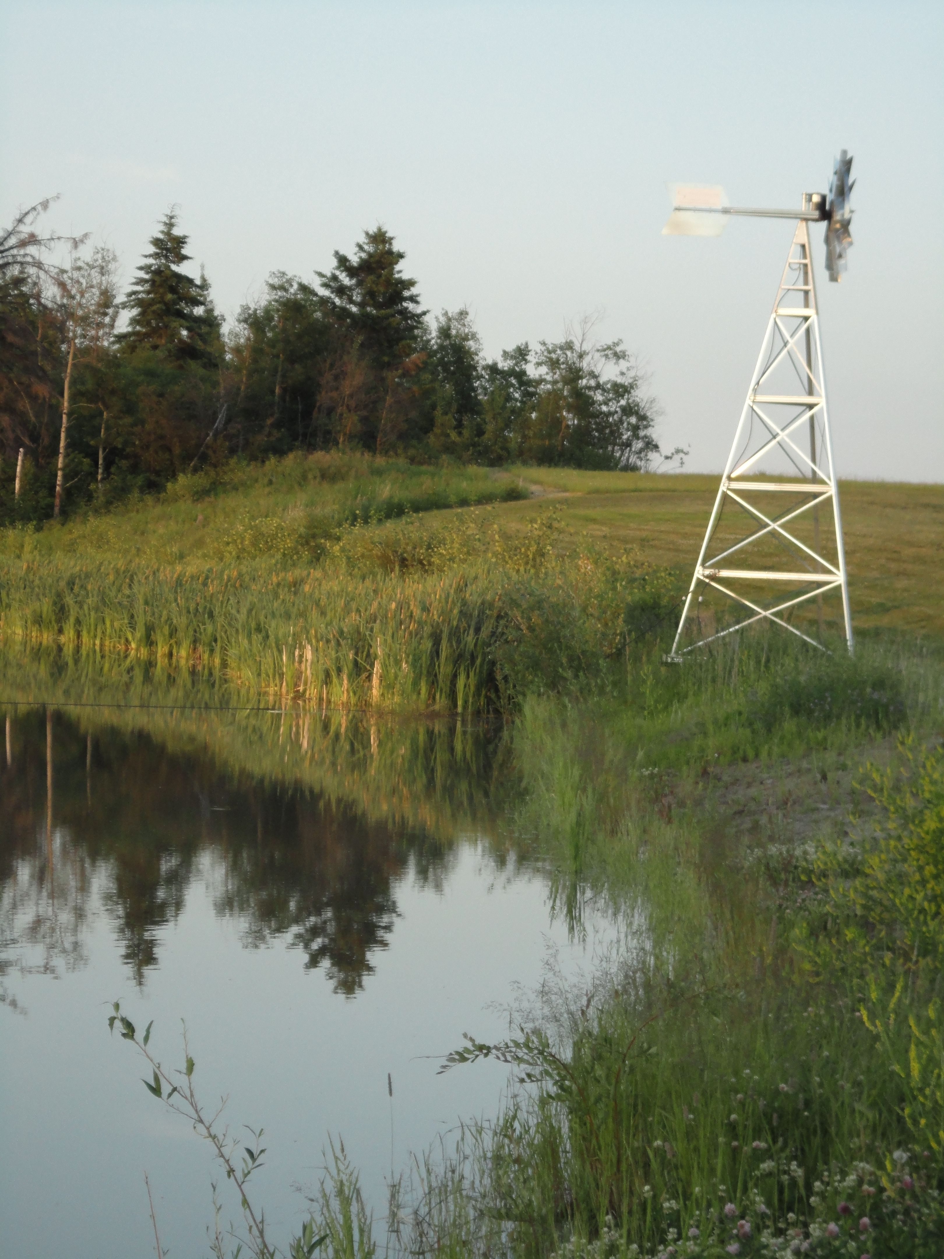 windmill aeration for the fish pond memory lane campground