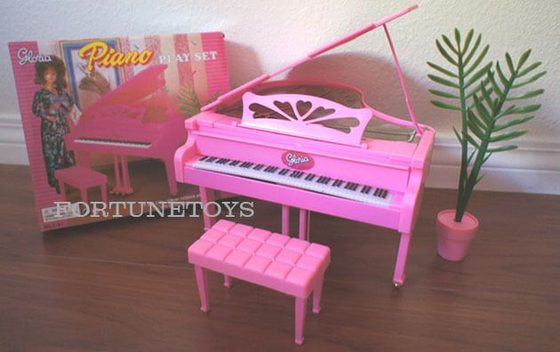GLORIA DOLLHOUSE FURNITURE SIZE PIANO W/Chair PLAYSET FOR BARBIE ...