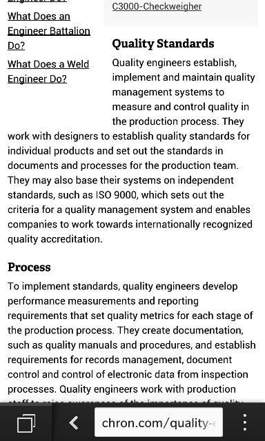 Job Description  Quality Engineer    Job Description