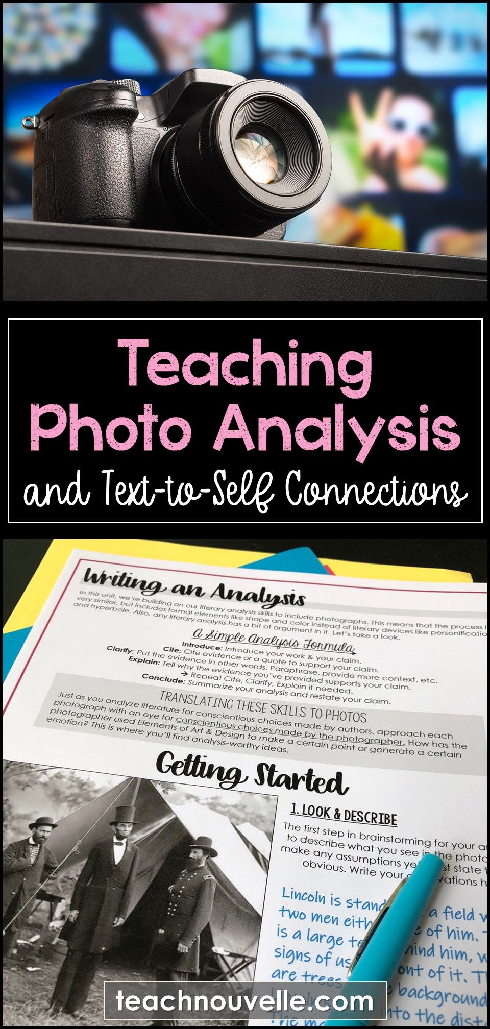 Teaching Photo Analysis To Build Text Connections Nouvelle Ela Teaching Resources High School English Lessons Teaching Text To Text Connections