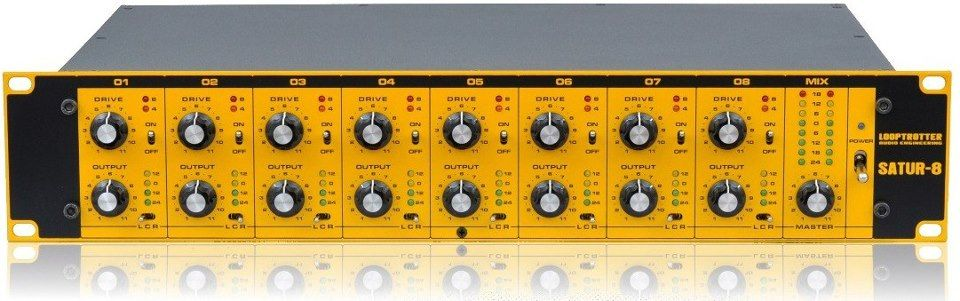 15/03/2013 - The LOOPTROTTER.Audio.Engineering Satur-8  Not just a summing mixer, the Satur-8 is the ultimate colour box imparting a valve-like saturation to the sound, and it's incredible! And we're not the only saying Chemical Brothers love it too!