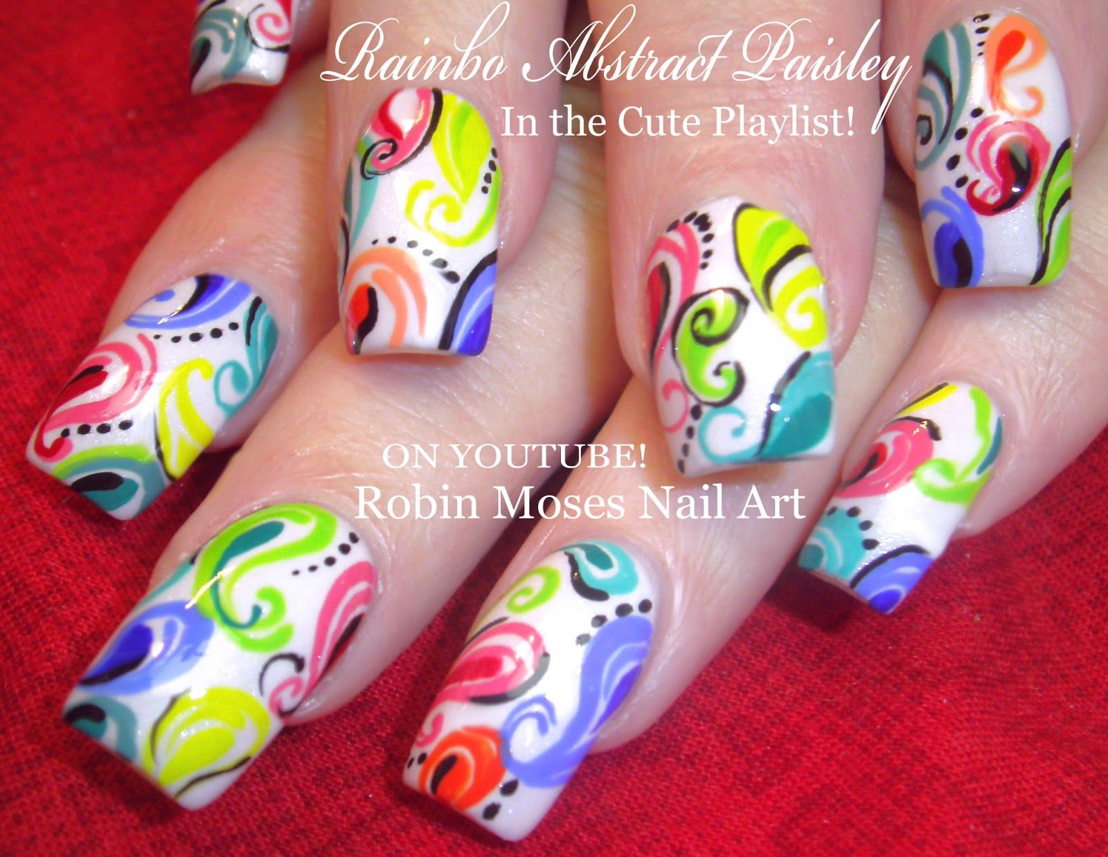 Robin Moses Nail Art: Rainbow Paisley Nails! \