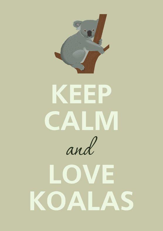 Keep calm and love koalas by Agadart on Etsy