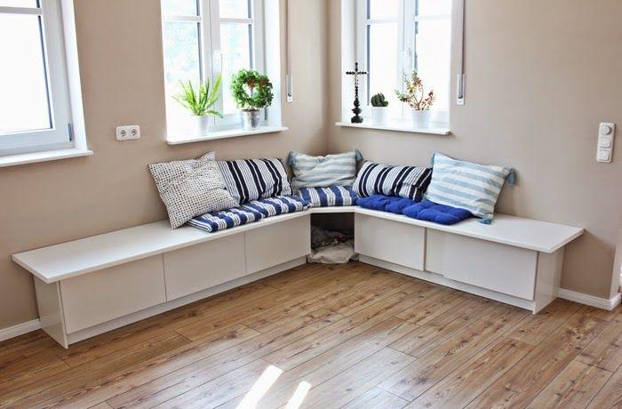 Wir bauen ein Haus Ikea Hack Tutorial  Essecke  Unser Haus  Pinterest  Ikea Sitzbank ikea