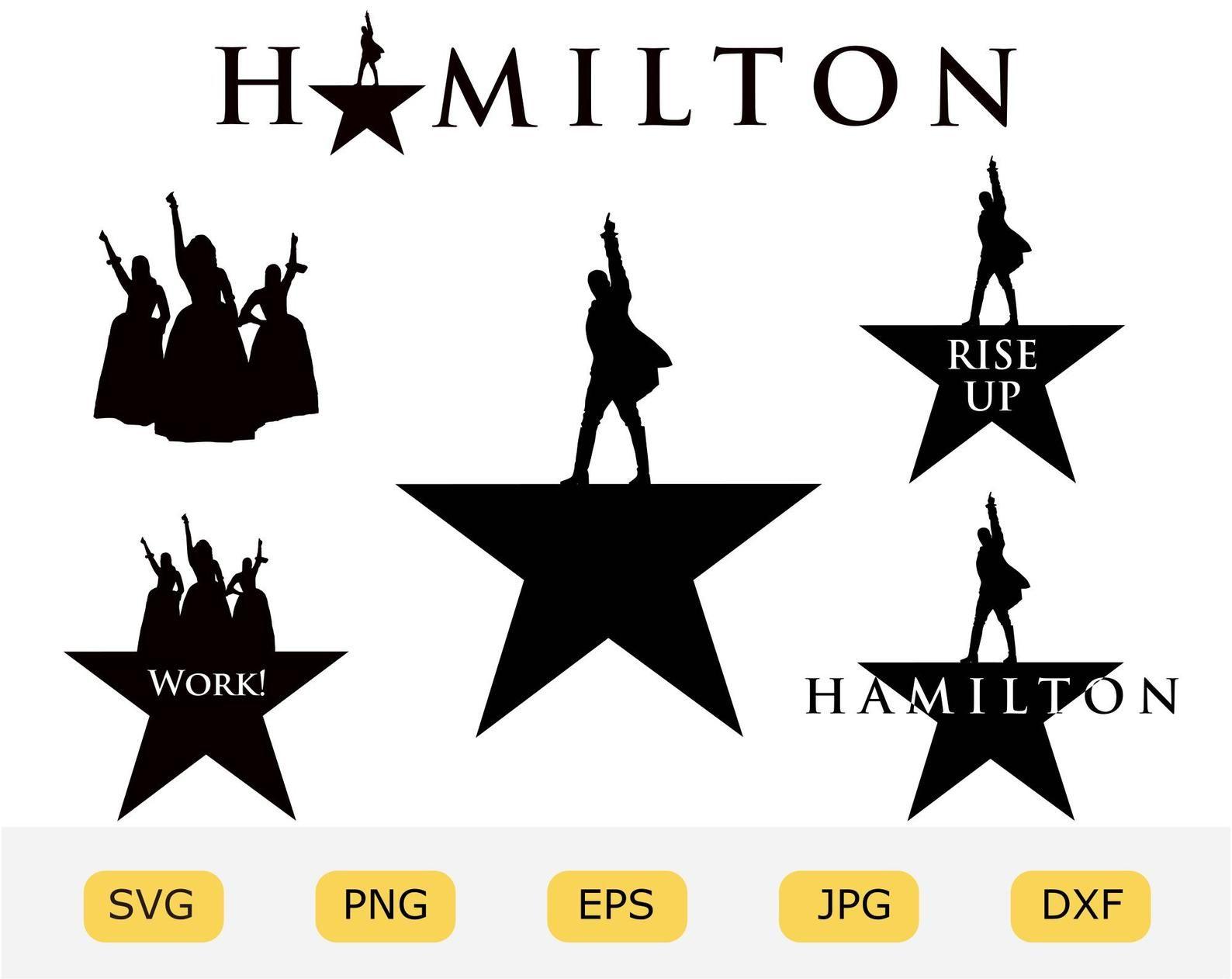 Hamilton Svg Bundle Broadway Musical Schulyer Sisters Etsy Star Outline Hamilton Logo Svg