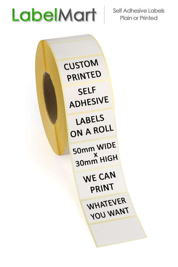 250 Self Adhesive Labels On A Roll 50mm X 30mm By Labelmart Uk 10