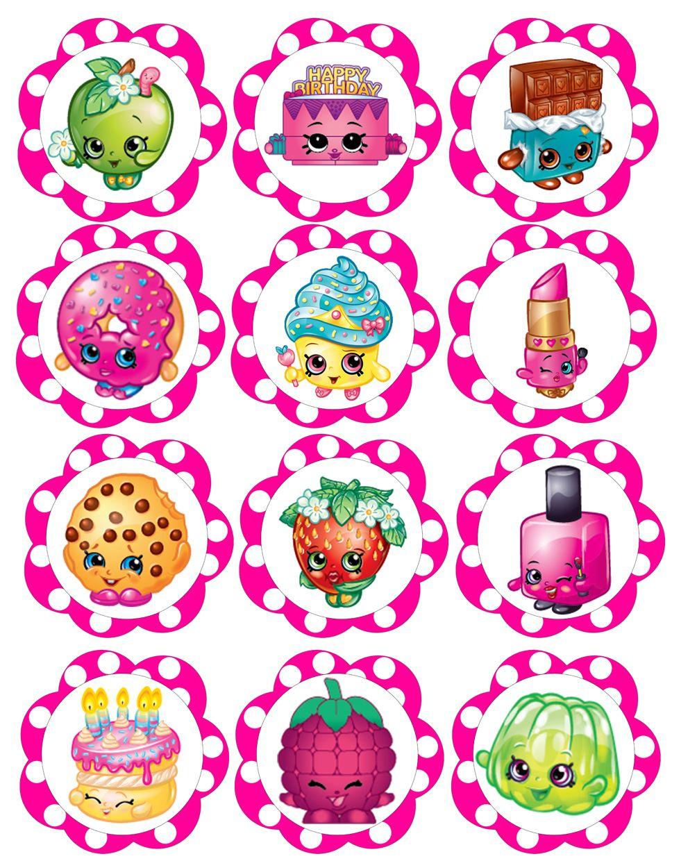 Charming Shopkins Cupcake Toppers Free Printable Free Shopkins Birthday Printables  Celebrates