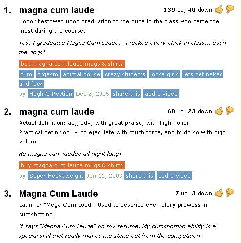 Wonderful and very informative explanations from urbandictionary