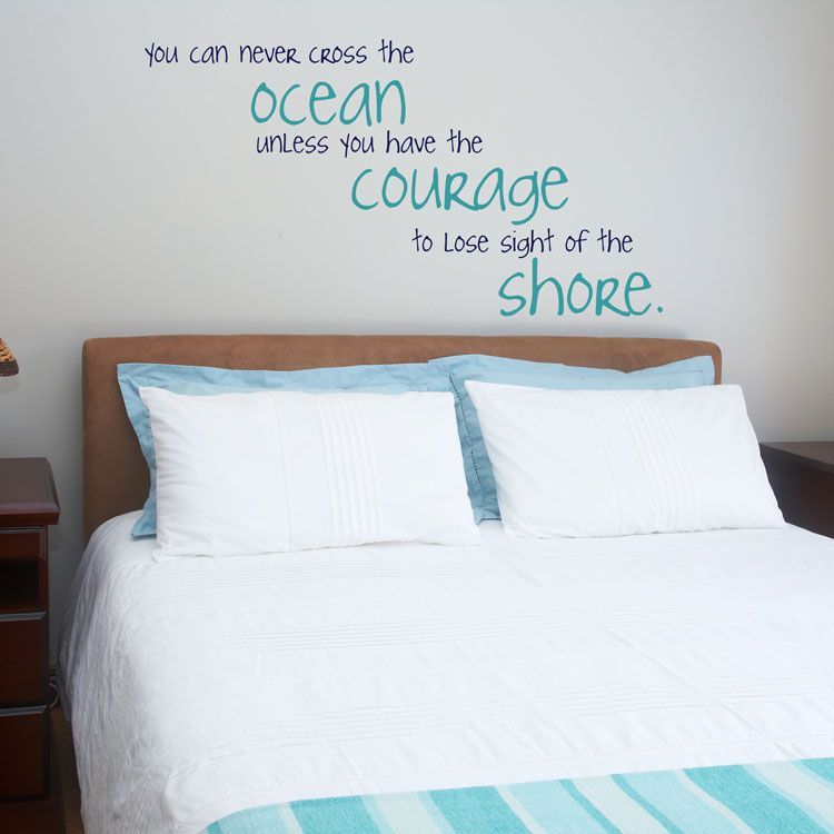 You Can Never Cross The Ocean Wall Decals Stickers Graphics - Wall decals beach quotes