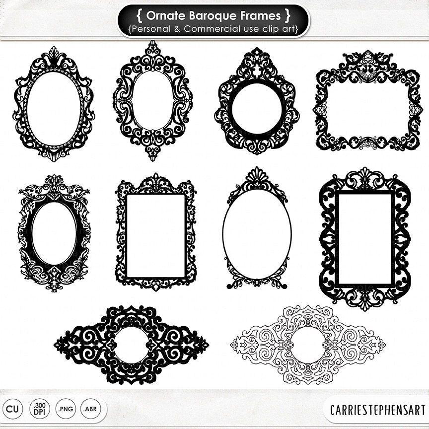 Ornate Fancy Frames, Formal Decorative Frame, Elegant