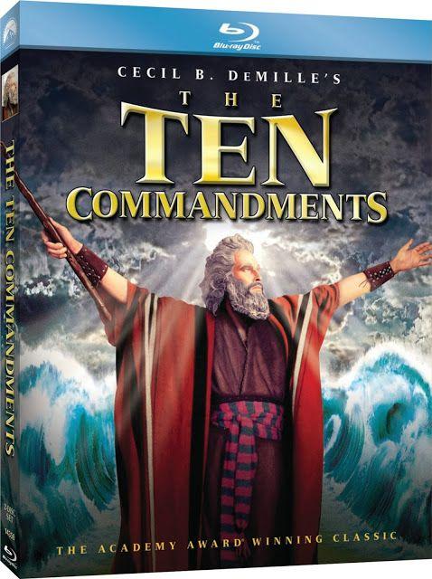 The Ten Commandments 1956 Bluray Dual Audio Movie Movies Wood Christian Movies Film Dvd Christian Films