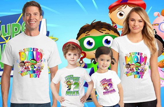 Super Why Family Birthday Shirt Super Why Custom Shirt