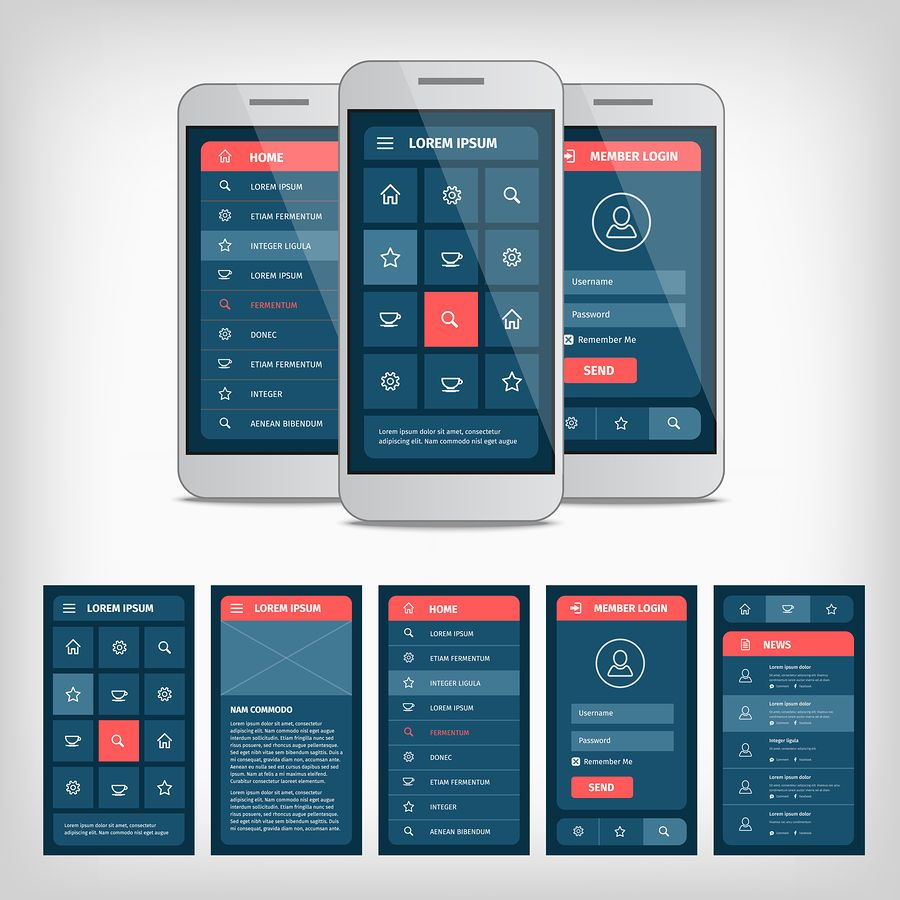 mobile app design Gallery Android UI Pinterest