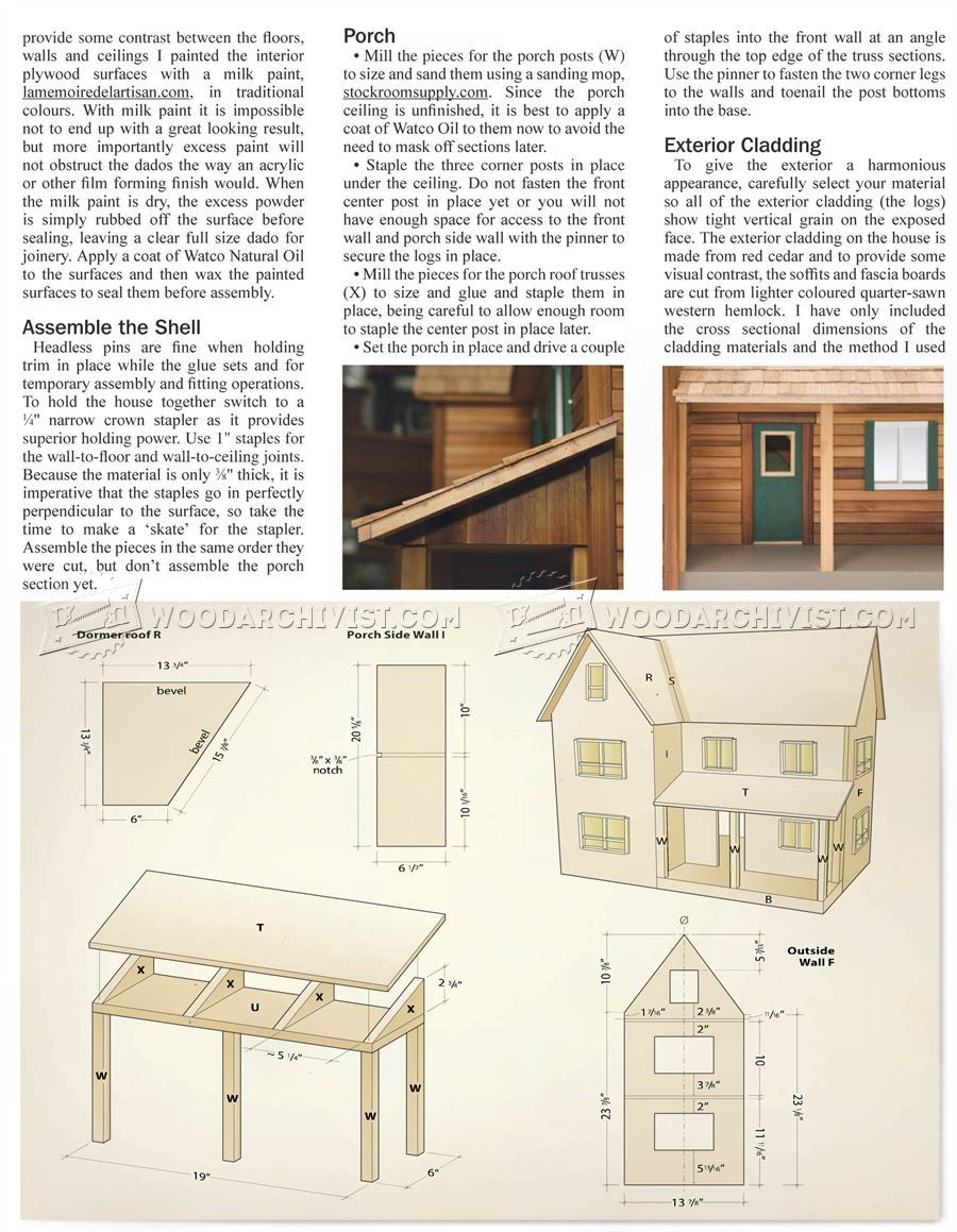 barbie doll furniture plans. #833 Doll House Plans - Children\u0027s Wooden Toy And Projects Barbie Furniture L