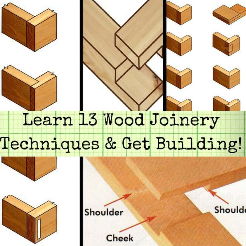 13 Wood Joinery Types Guide Free Pdf Tutorials 1001 Pallets Wood Joinery Woodworking Joints Diy Wood Projects